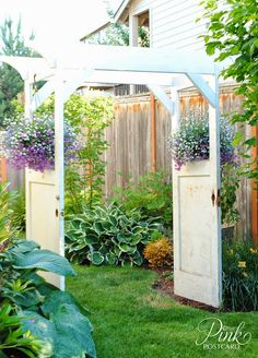 *Pink Postcard*: how we built our vintage door arbor