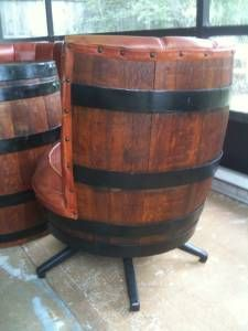 Barrel chair set, super cool.  Would be great for a mancave.
