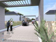 Desain Rumah Minimilais Perumahan Griya Mas Sidoarjo. Pintu Gerbang 2. http://www.archirecon.com/2015/02/desain-rumah-minimalis-perumahan-girya.html