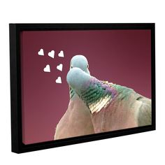 ArtWall Lindsey Janich 'First Kiss 1' Gallery-wrapped Floater-framed