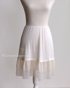 Grace and Lace - Mesh Skirt Extender (Sale), $25.50 (http://www.graceandlace.com/all/mesh-skirt-extender-sale/)
