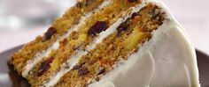 Enjoy your carrots naturally sweet, baked in a cake frosted with rich cream cheese frosting.