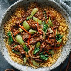 How to Make Red Bean Paste | Omnivore's Cookbook Pan Fried Noodles, Fried Noodles Recipe, Crispy Noodles, Asian Noodles, Asian Recipes, Beef Recipes, Ethnic Recipes, Chinese Recipes, Hawaiian Recipes