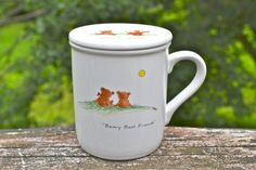 This beary cute ceramic mug and lid. | 26 BFF Mugs That Are Better Than Friendship Bracelets