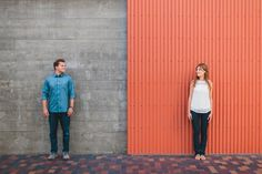 Engagement Photos: Stylish downtown San Diego engagement session. Photos by Singler Photography