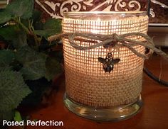 Autumn Decorating with Burlap | Decorating with burlap for fall - Crafting Rebellion: Burlap ... | To ...