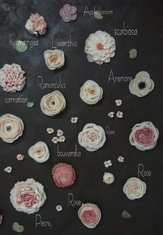 3. Different flowers that can be made. This is only a small selection.