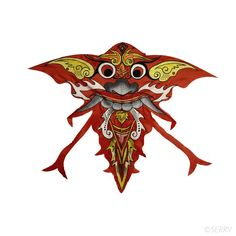 Barong Dragon Kite King of the spirits and protector in the mythology of Bali, Barong is vividly portrayed on this large hand-painted nylon kite. #SummerFun #kites #Dragons #handpainted #FairTrade #indonesia