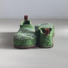 Great green slippers. leninka