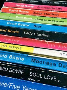 David Bowie Ziggy Stardust Album As Books Poster