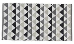 Handwoven cotton carpet, Ellos.