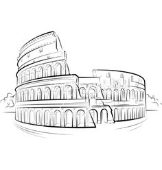 Drawing colosseum vector 577068 - by Mirumur on VectorStock®