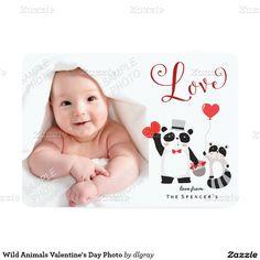 Wild Animals Valentine's Day Photo 5x7 Paper Invitation Card