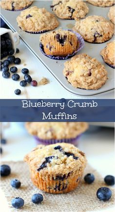 Blueberry Crumb Muffins ~  Muffins are perfect for breakfast. These muffins are loaded with juicy blueberries then topped with a crumb topping.