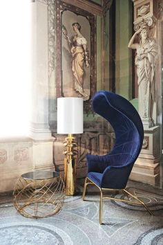 Romanesque meets modern French furniture reminiscent of the Rocco style