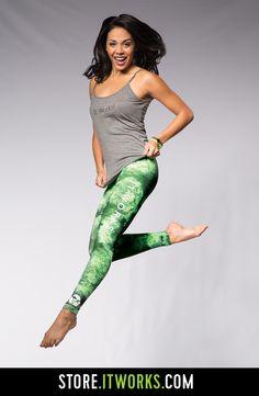 Black & Green Reversible Active Pant