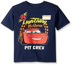 Disney Boys Little Boys Cars Lightning Mcqueen TShirt Navy Large7 ** Visit the image link more details. Note:It is affiliate link to Amazon.