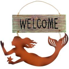 Mermaid Silhouette Welcome Sign – Baubles-N-Bling