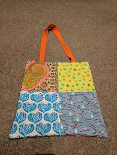 Brights Patchwork Tote for SB. Side 2.