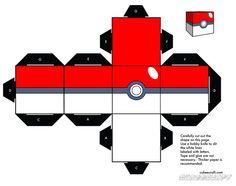 Cubeecraft Google, Pokemon Crafts For Kids, Papercraft Pokeball, Pokemon Printable, Pokemon Papercraft Templates, Papercraft Pokemon, Pokeball Papercraft