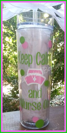 Hey, I found this really awesome Etsy listing at http://www.etsy.com/listing/150563085/nurse-tumbler-personalized-16-ozacrylic