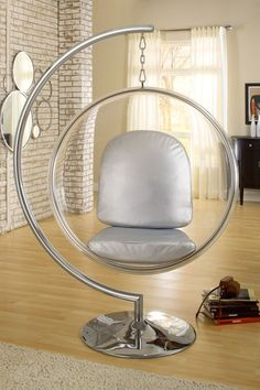 california modern classics, ring chair in silver