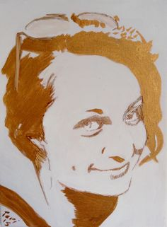 braided portrait - Canvas: rushes, acril (gold)  #art #craft #gold #reeds #rushes #ecoart   pavafeszek.blogspot.com Gold Art, Some Words, Portrait, Canvas, Crafts, Painting, Design, Manualidades, Headshot Photography