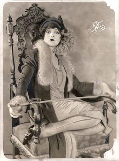 """The """"It"""" girl, Clara Bow. A glamorous movie star, she came to personify the 1920s."""