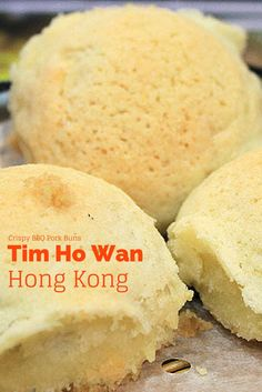 Tim Ho Wan in Hong Kong is one of the world's cheapest Michelin-Starred restaurants. Their signature Dim Sum item is these Crispy BBQ Pork Buns. Some of the best in the world!