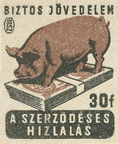 hungarian matchbox label from 60's