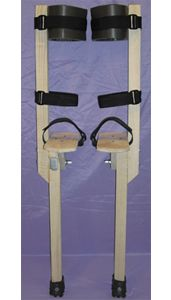 Circus Peg Stilts - Wood Strap on type for Kids and Adults - MADE IN USA Various heights are available for Kids and adults, see below for Halloween Projects, Diy Projects, Halloween Circus, Halloween Town, Halloween Stuff, Halloween Costumes, Stilt Costume, Wood Crafts, Diy And Crafts