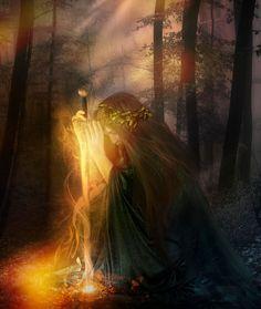 nos momentos em que a dor e a solidão se faziam presentes, somente a lua iluminava o caminho. pela luz que emanava dava pra ver a força da minha espada, e eu perseverava. #Mari