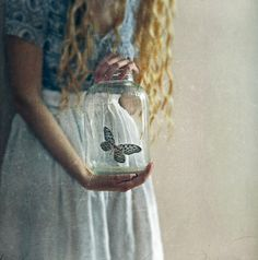 Writing Prompt: I have a butterfly trapped/protected in a jar.  What does that say about me?