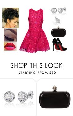 """Pink Event ✧❥"" by muppets-cookie-monster ❤ liked on Polyvore featuring Elie Saab, Alexander McQueen and Christian Louboutin"