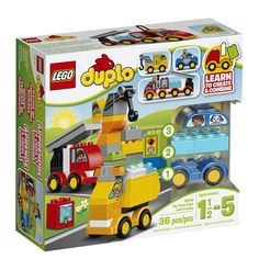 LEGO DUPLO My First Cars and Trucks. Popular toys for boys, educational toys kids love, toys toddlers Lego Duplo Sets, Playmobil Sets, Popular Kids Toys, Best Kids Toys, Children Toys, Van Lego, Cool Toys For Boys, Cars 1, Thing 1