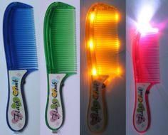£1.49 New Kids Hair Combs Flash Comb Flash light Prank Great Gift Cheap for Girls Boys | eBay