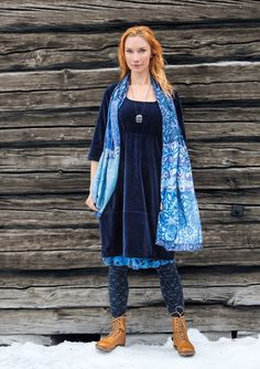 Velour dress in cotton & polyester – New arrivals! – GUDRUN SJÖDÉN – Webshop, mail order and boutiques | Colourful clothes and home textiles in natural materials.