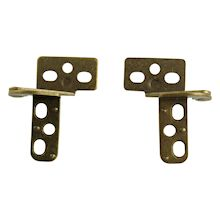 """4 Door Hinges Half Wrap Brass Tone Surface Mount and//or Mortise Vintage Retro 2/"""""""