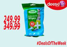 Deeski.com is offering over 25% discount on SWISH ANTIBACTERIAL WIPES.   Log on to DEESKI.COM OR Call/SMS 0814-300-4000 to order. You can also SMS the word 'Order' and a Customer Service Representative will call you back to take your order. START BUYING NOW!!!!!!   #Deeski #Deals #DealsOfTheWeek #LowestPrices #Wholesale #Retail #Groceries