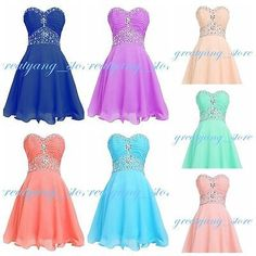 7c508147d63 New Short Mini Prom Party Evening dress Homecoming Dresses bridesmaid  Graduation Prom Dresses