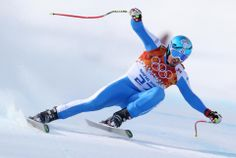 DAY 10:  Dominik Paris of Italy competes during the Alpine Skiing Men's Super-G http://sports.yahoo.com/olympics