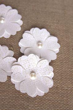 Handmade Flowers in Ivory Handmade Paper by Summertimedesign, $3.75
