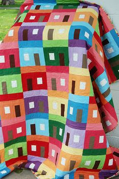 Seaside Cottages Quilt by the cloth parcel