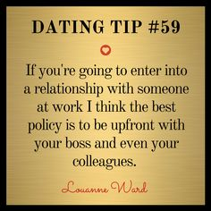 dating work colleagues advice