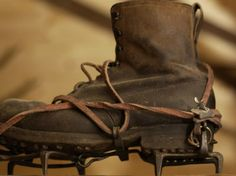 vintage climbing gear / crampons   Wouldn't you climb Everest with these?