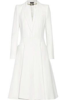Alexander McQueen A-line crepe coat | THE OUTNET