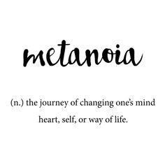 Metanoia Unique Word