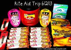Rite-Aid Shopping Trip on 6-2 ~ saved 85%