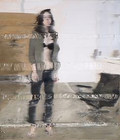 """Andy Denzler """"Model in the Studio"""" 2011. I like the texture, I like the blurriness. It's strange but familiar"""