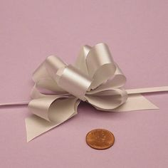 Silver Non-Metallic Pull String Bow, 2' * Want to know more, click on the image.